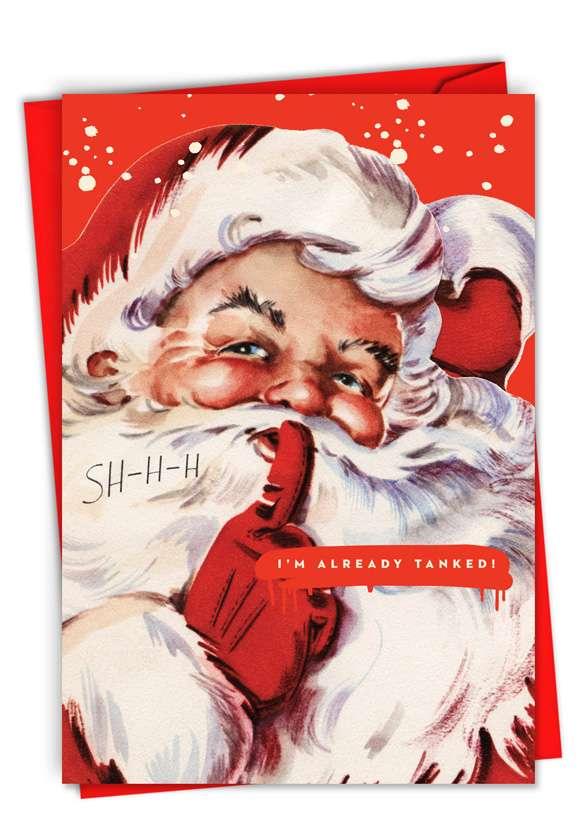 Tanked Santa: Hysterical Merry Christmas Printed Greeting Card