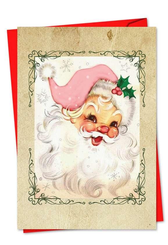 Pink Kringle: Creative Christmas Greeting Card