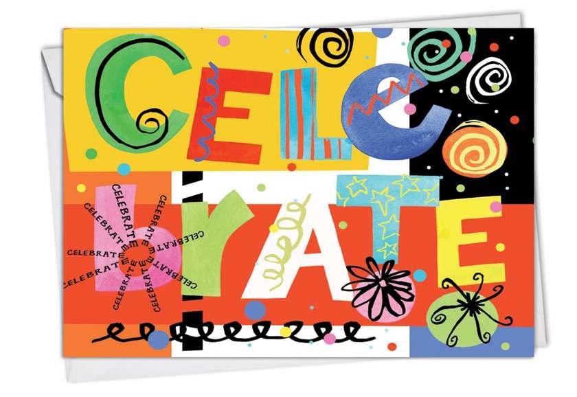 Grateful Graffiti: Creative Blank Paper Card