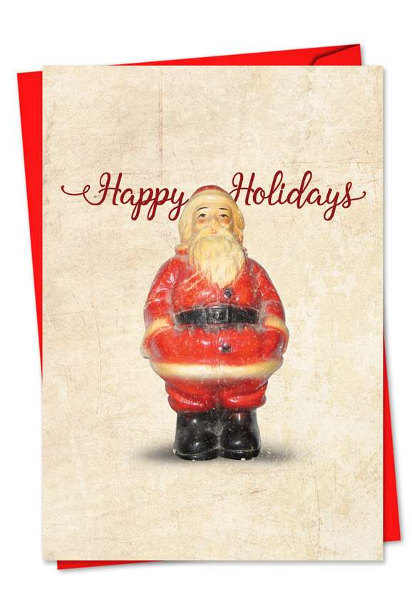 Christmas Antiquities: Stylish Christmas Greeting Card