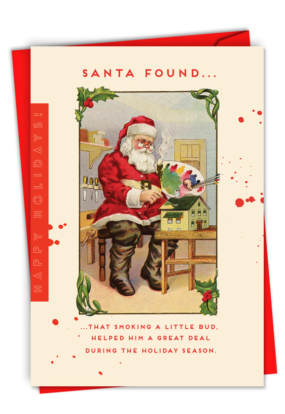 Santa's Little Bud: Hysterical Merry Christmas Printed Card