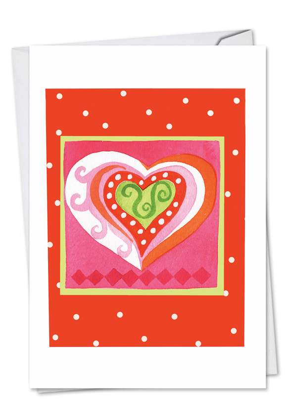 Art Hearts: Stylish Valentine's Day Paper Greeting Card