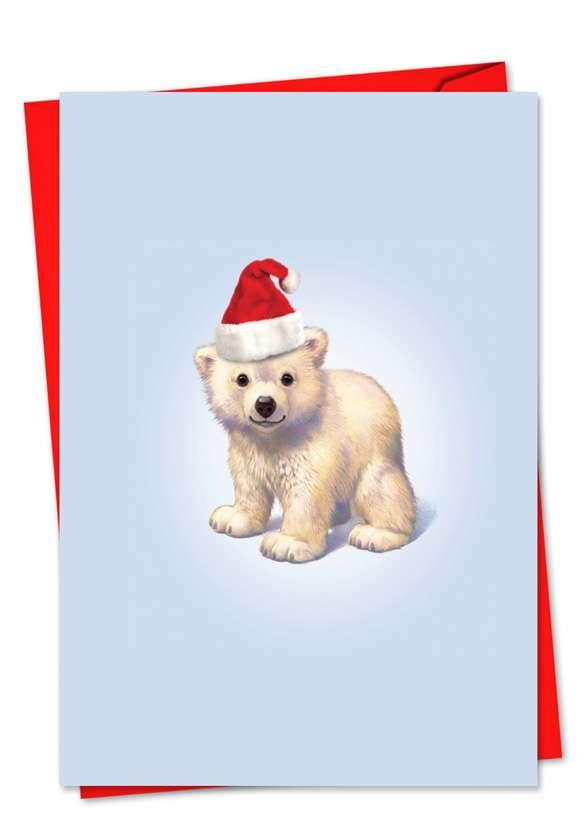 Zoo Babies: Creative Christmas Paper Greeting Card