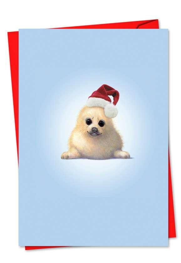 Zoo Babies: Creative Christmas Printed Greeting Card