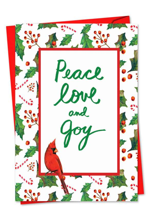 words  u0026 birds  stylish christmas paper greeting card