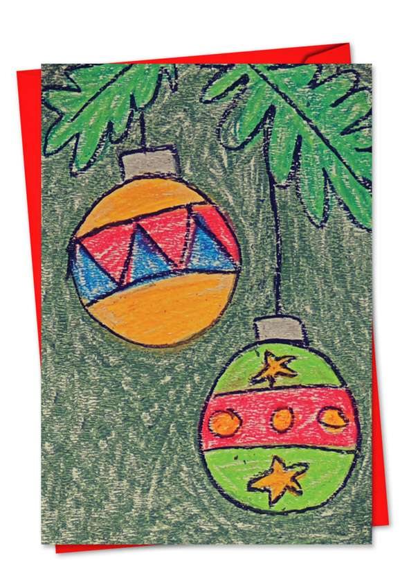 Coloring: Stylish Christmas Paper Greeting Card