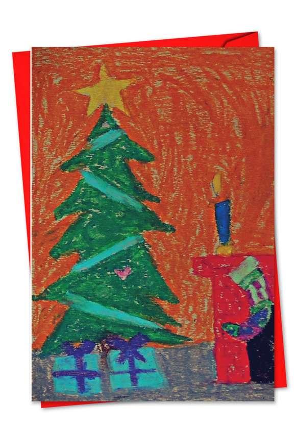 Coloring: Creative Christmas Printed Greeting Card