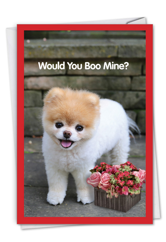 Boo My Valentine - Flower Basket Card