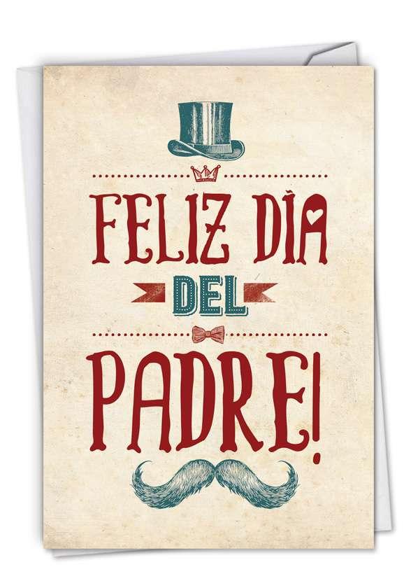 Feliz Día del Padre: Stylish Father's Day Card