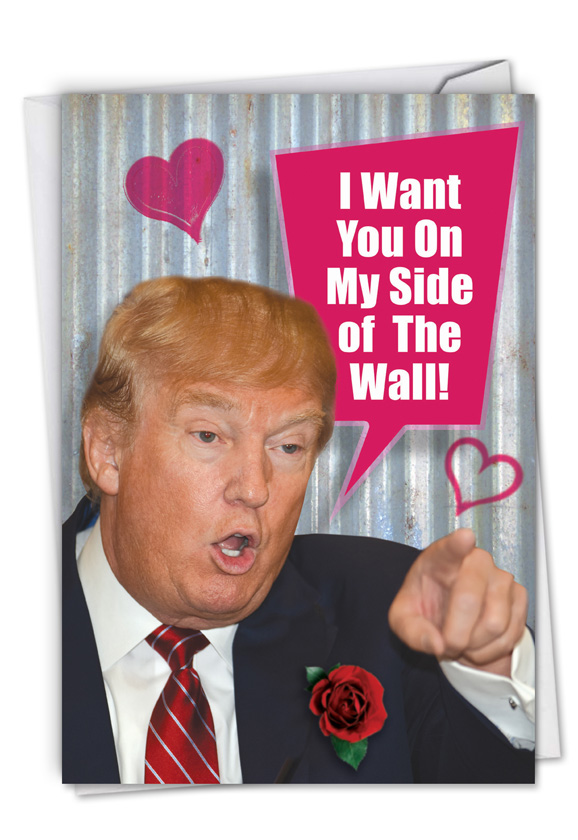 My Side Of The Wall: Humorous Valentine's Day Card