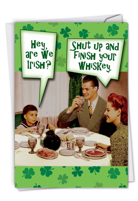 Are We Irish: Hilarious St. Patrick's Day Printed Card