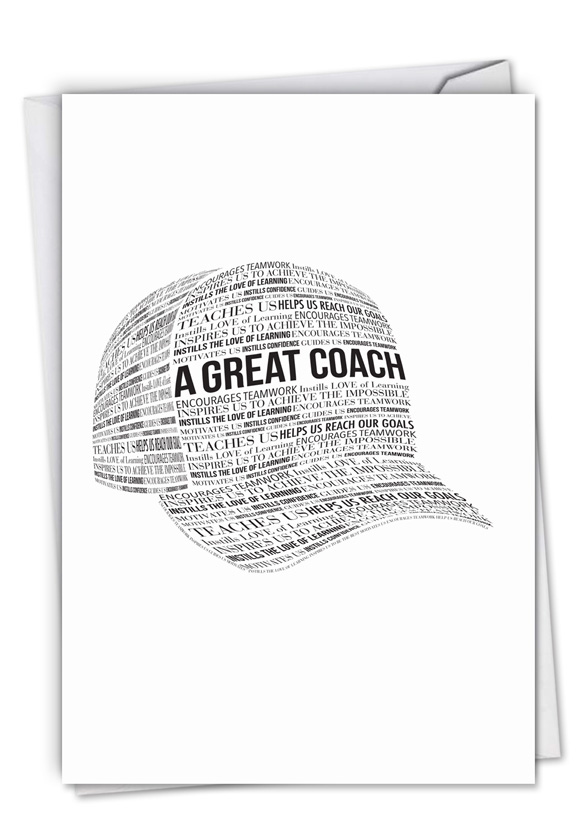 A Great Coach: Creative Thank You Greeting Card