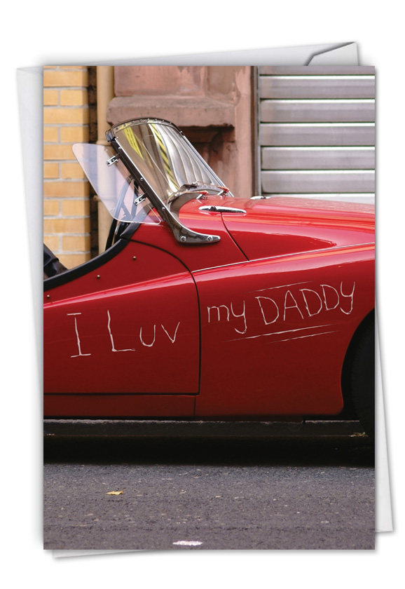 Luv Scratch: Funny Father's Day Paper Greeting Card