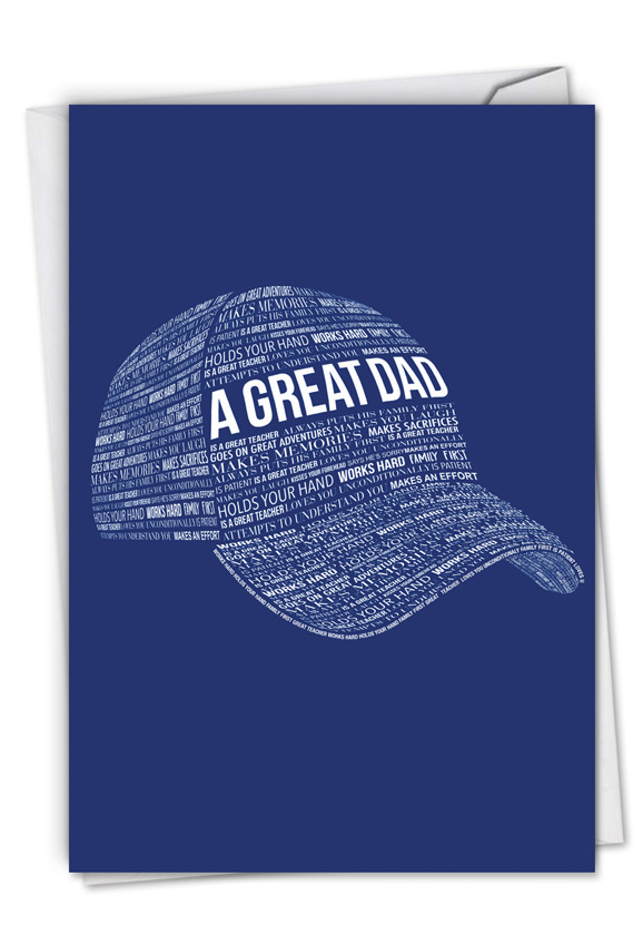 A Great Dad: Creative Father's Day Greeting Card