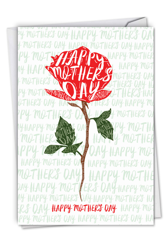 Flower Words: Creative Mother's Day Printed Card