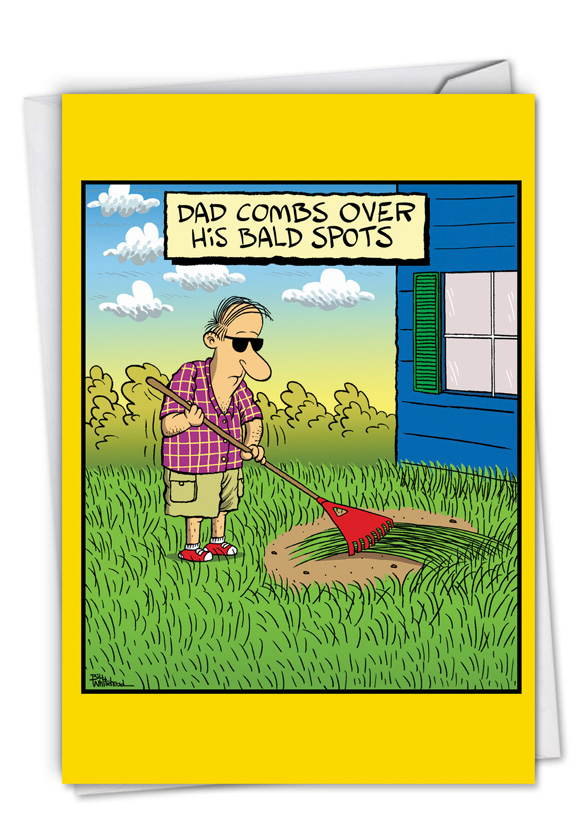 Bald Spots: Hilarious Father's Day Printed Card