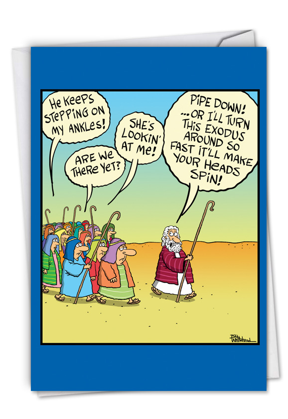 Moses Threat: Humorous Father's Day Paper Greeting Card