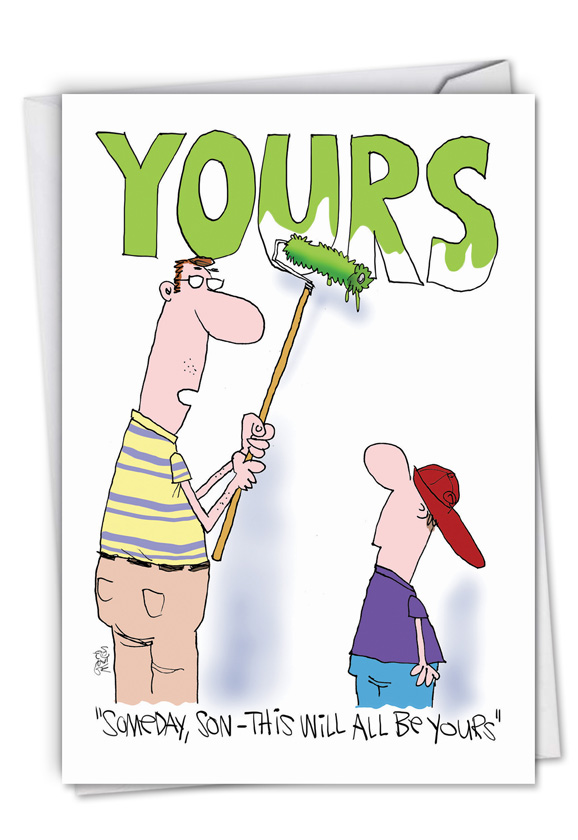 All Be Yours: Funny Father's Day Card