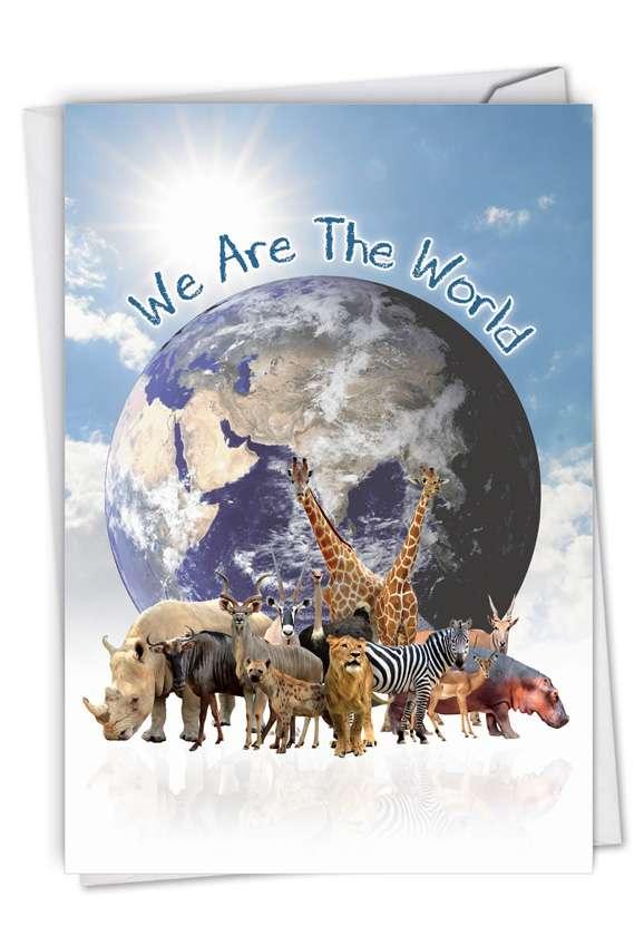 Uno Mundo: Creative Birthday Printed Greeting Card
