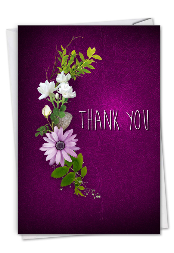 Many Thanks - Purple: Creative Thank You Greeting Card