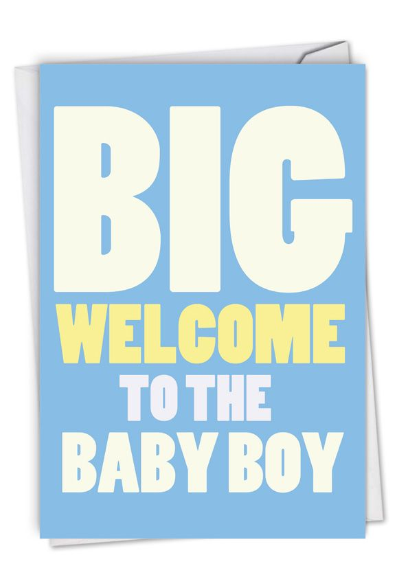 New Baby Boy: Humorous Baby Card