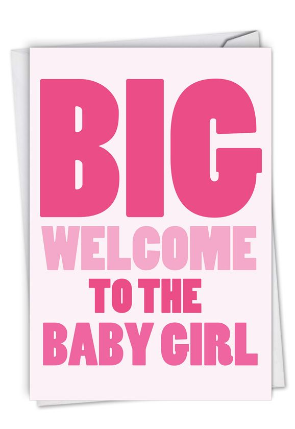 New Baby Girl: Hysterical Baby Greeting Card