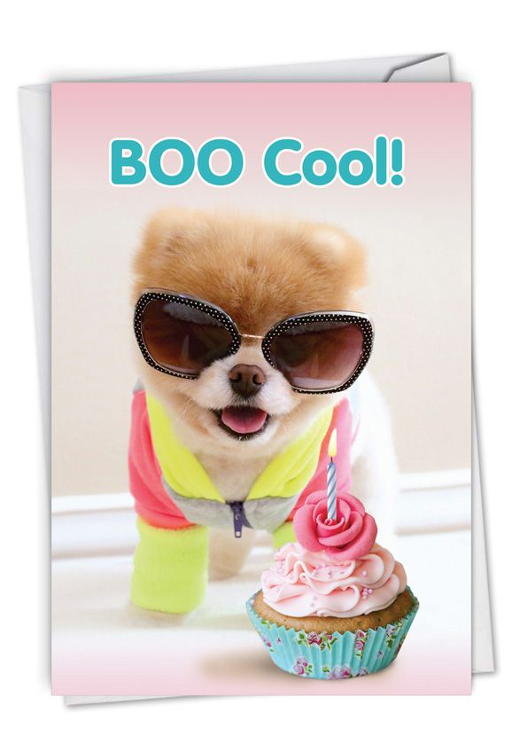 Boo Cool: Humorous Birthday Paper Greeting Card