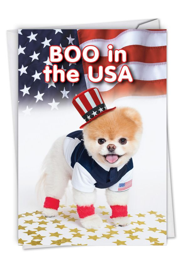 Boo In The USA: Hysterical Birthday Printed Greeting Card