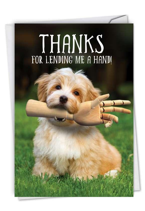 Lending A Hand: Hilarious Thank You Printed Card