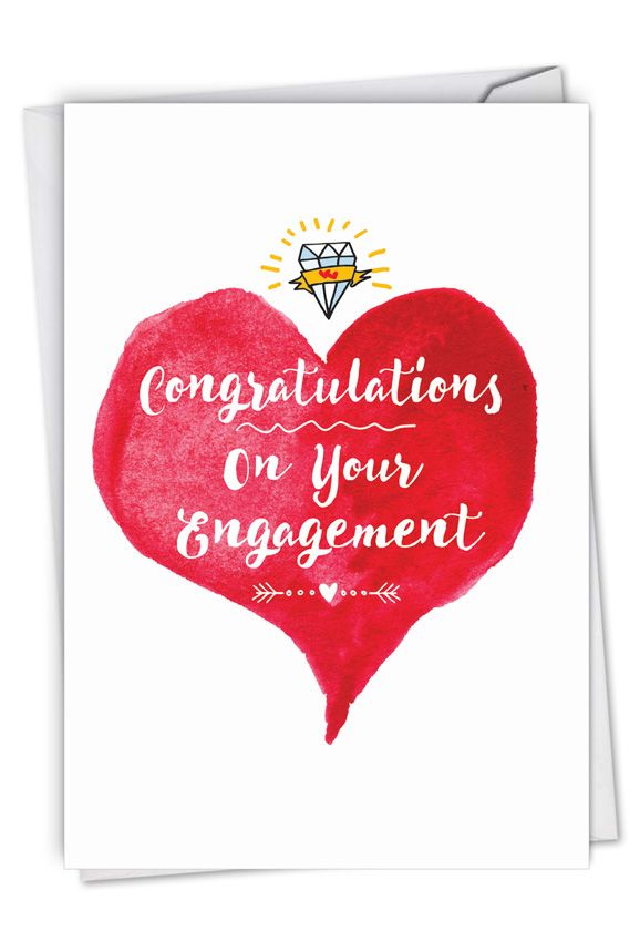 About Time: Humorous Engagement Paper Greeting Card