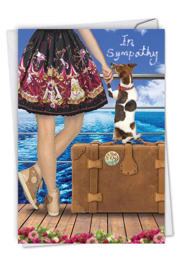 Dog and Friend: Stylish Sympathy Paper Card