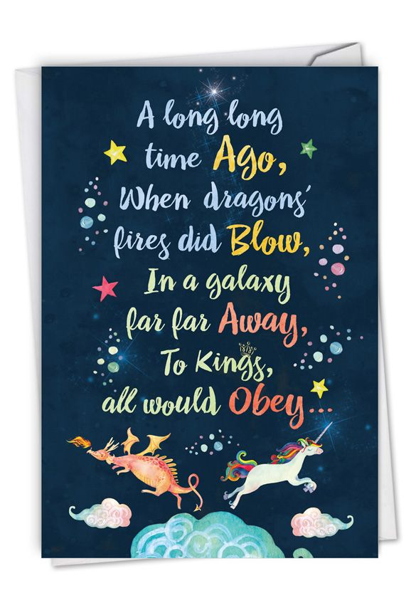 Long Ago and Far Away: Hysterical Birthday Greeting Card