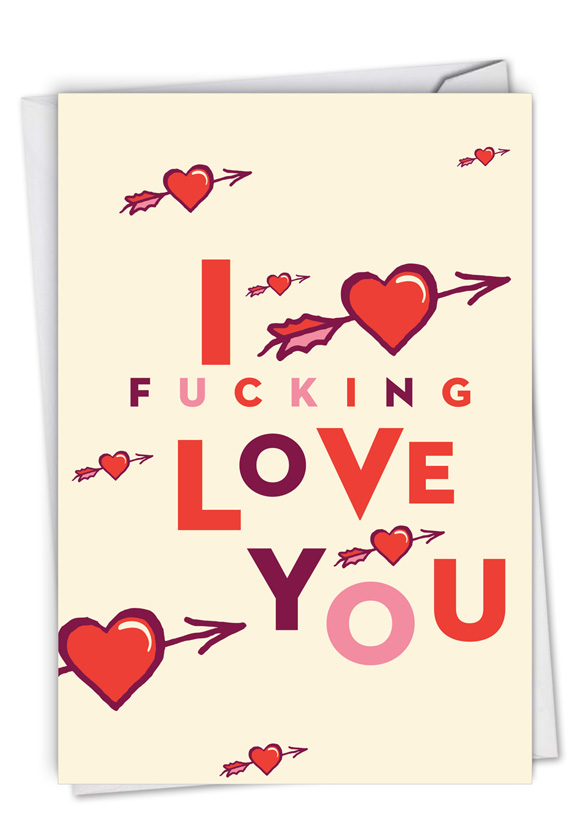 Heart and Arrow: Hysterical Valentine's Day Greeting Card