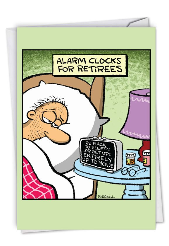 Retiree Alarm Clock: Humorous Retirement Paper Card
