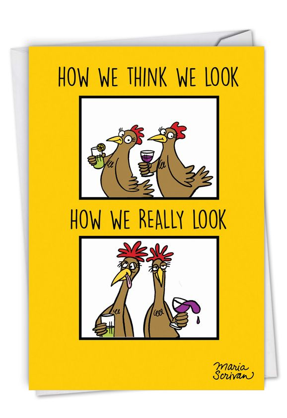 How We Look: Humorous Birthday Paper Greeting Card