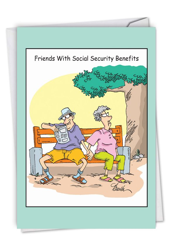 Social Security Benefits: Hysterical Anniversary Printed Greeting Card