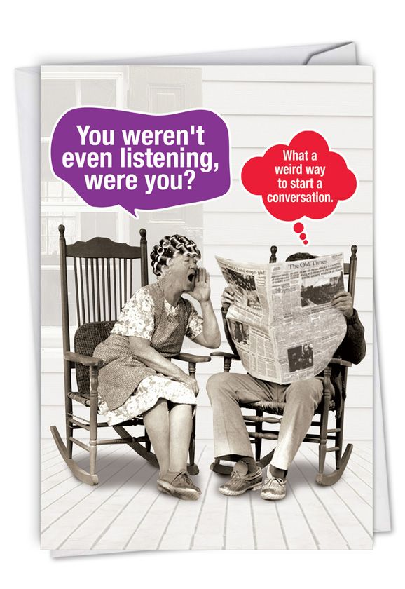 Weird Conversation: Hilarious Anniversary Printed Greeting Card