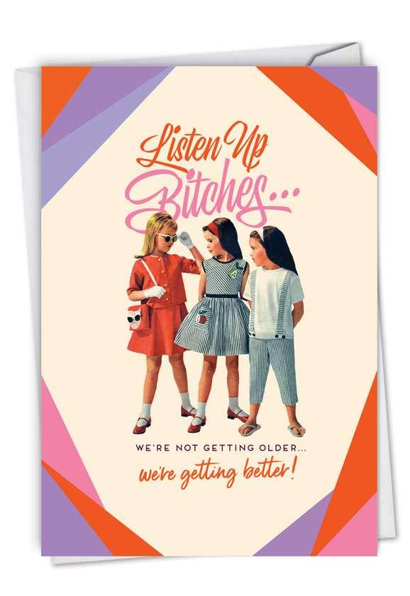 Listen Up: Funny Birthday Blank Paper Card