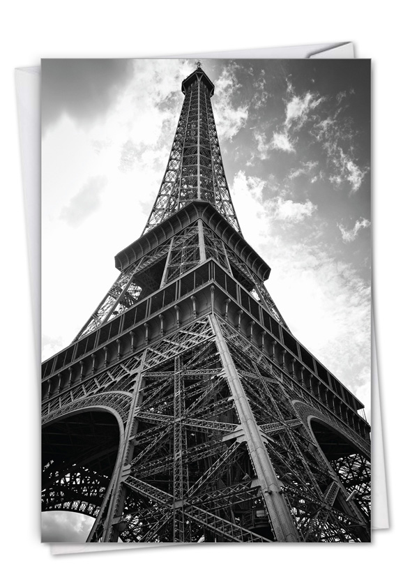 Towering Paris: Stylish Thank You Paper Card