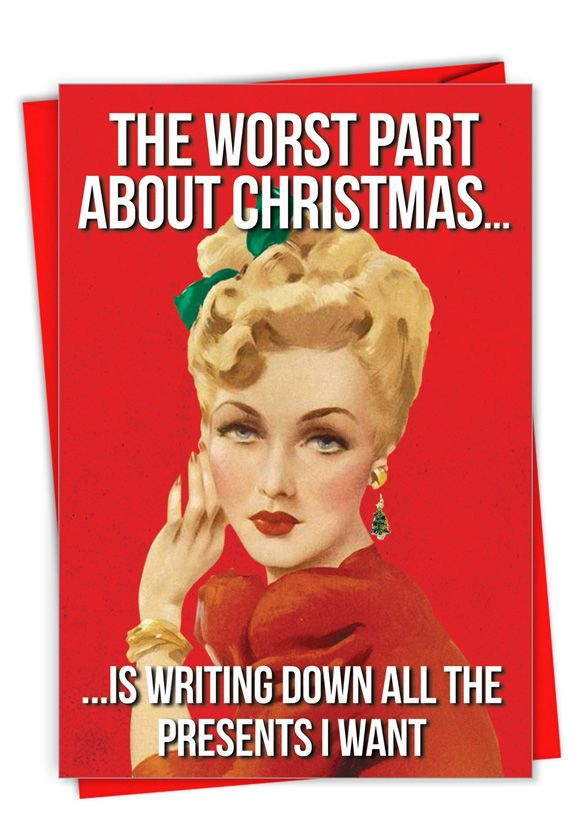 Worst Part: Hilarious Merry Christmas Printed Greeting Card