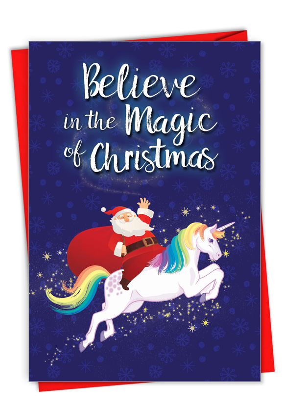 Believe In The Magic: Funny Merry Christmas Card