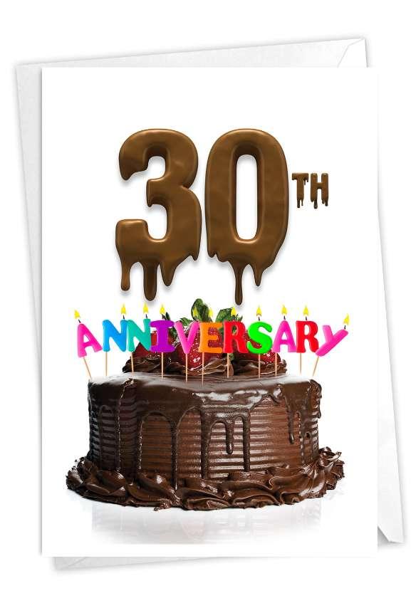 Big Day 30: Stylish Milestone Anniversary Paper Greeting Card