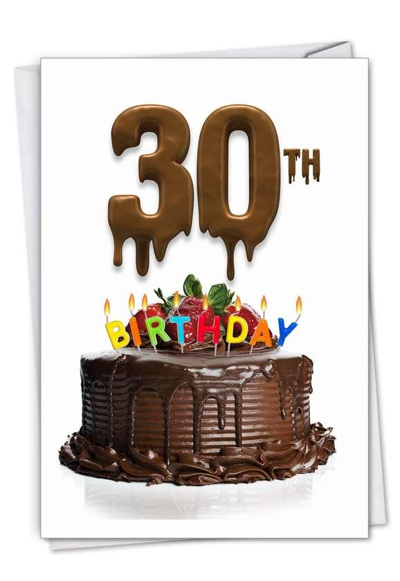 Big Day 30: Creative Milestone Birthday Printed Card
