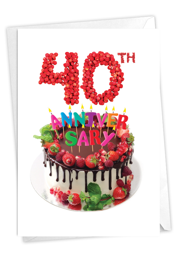 Big Day 40: Creative Milestone Anniversary Printed Greeting Card
