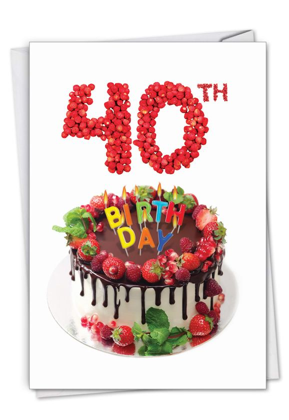 Big Day 40: Stylish Milestone Birthday Paper Greeting Card