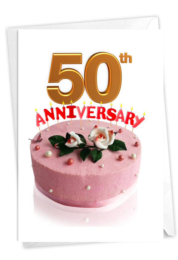 Big Day 50: Stylish Milestone Anniversary Card