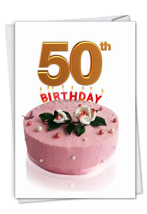 Big Day 50: Creative Milestone Birthday Printed Greeting Card