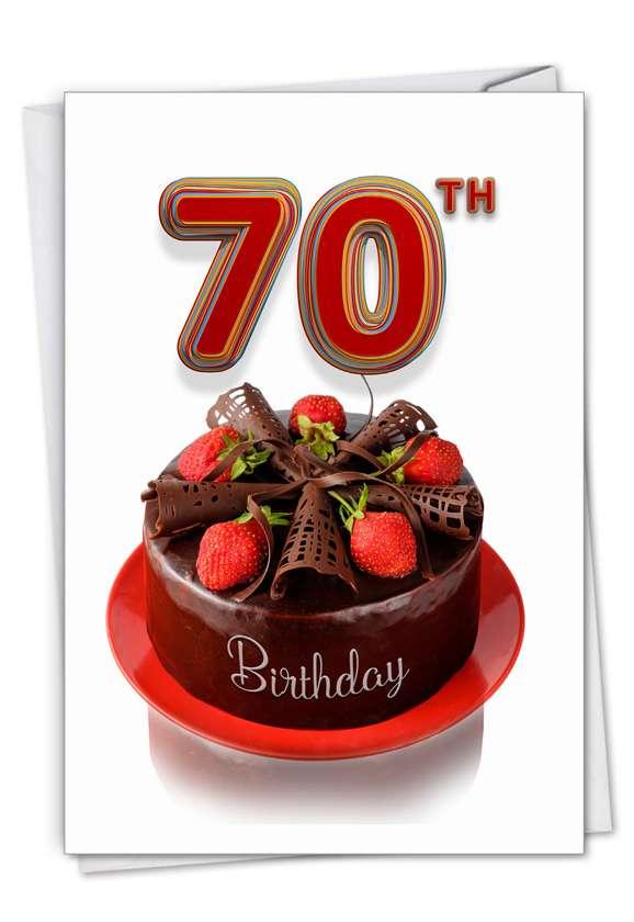 Big Day 70: Creative Milestone Birthday Greeting Card