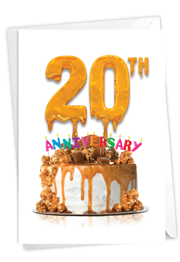 Big Day 20: Creative Milestone Anniversary Printed Greeting Card
