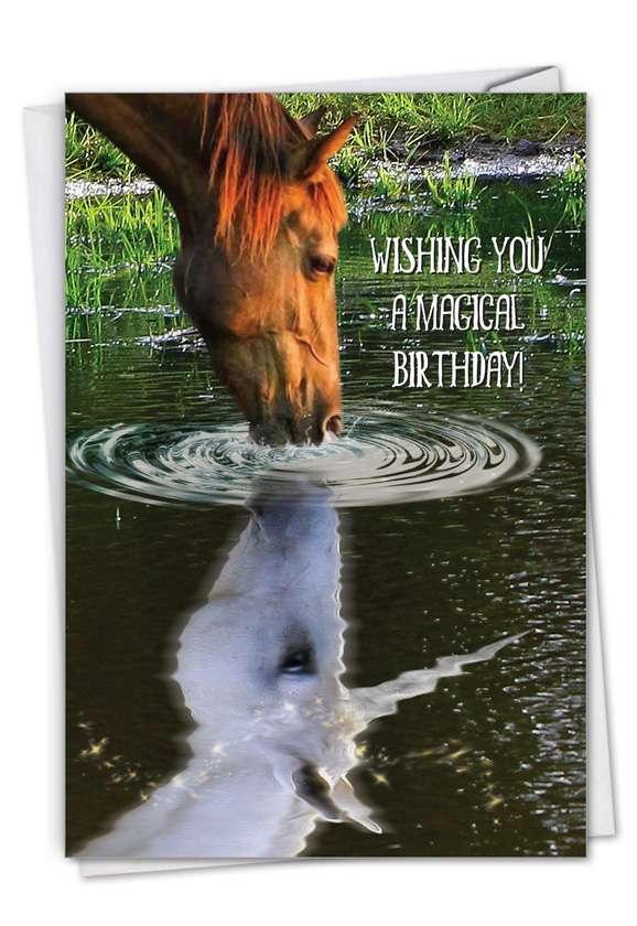 Aspirations - Horse: Creative Birthday Printed Greeting Card